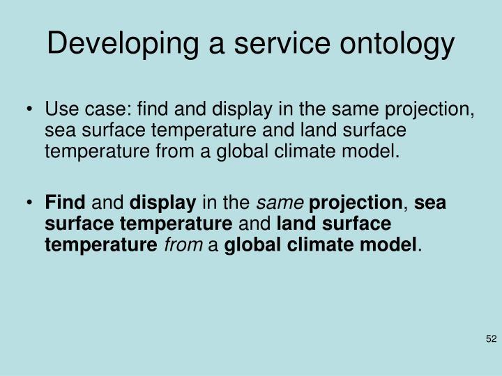Developing a service ontology