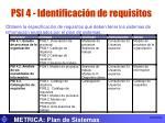 psi 4 identificaci n de requisitos