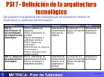 psi 7 definici n de la arquitectura tecnol gica