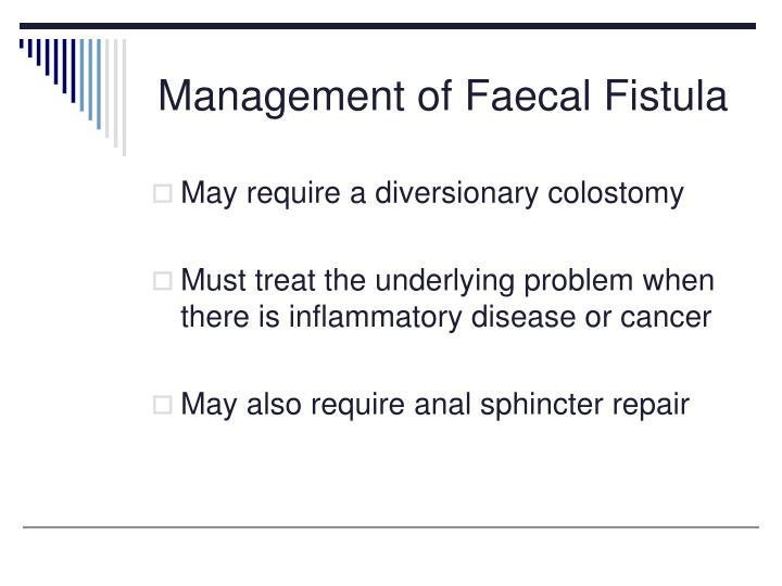 Management of Faecal Fistula