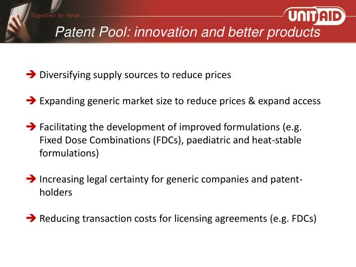 Patent Pool: innovation and better products