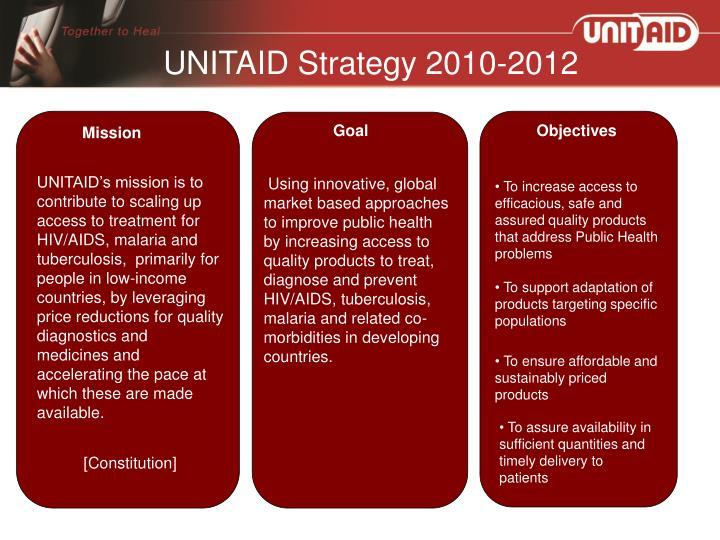 UNITAID Strategy 2010-2012