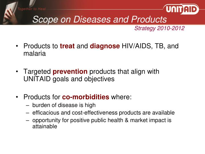 Scope on Diseases and Products