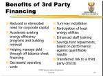 benefits of 3rd party financing