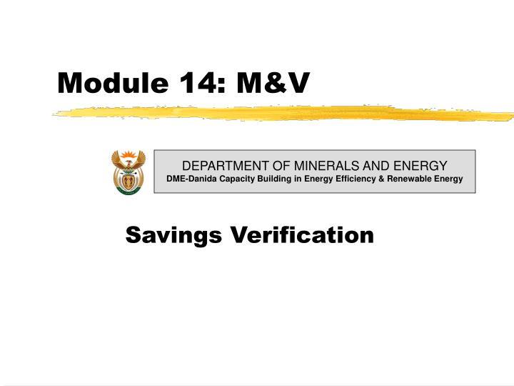 Module 14: M&V