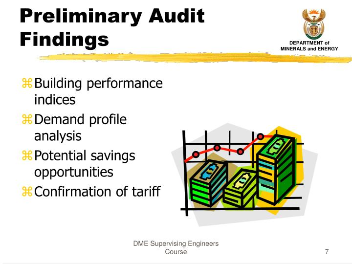 Preliminary Audit Findings