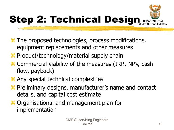 Step 2: Technical Design