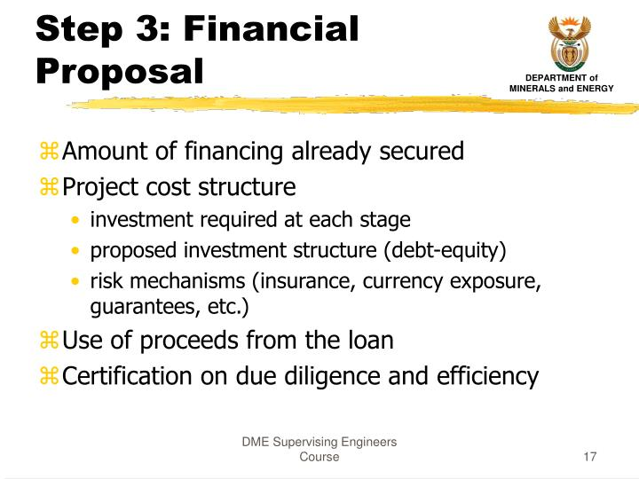Step 3: Financial Proposal