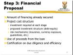 step 3 financial proposal