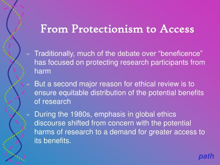 From Protectionism to Access