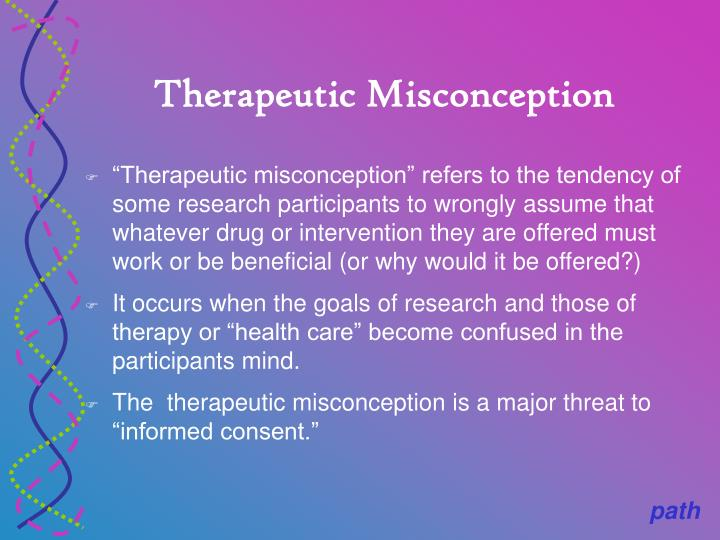 Therapeutic Misconception