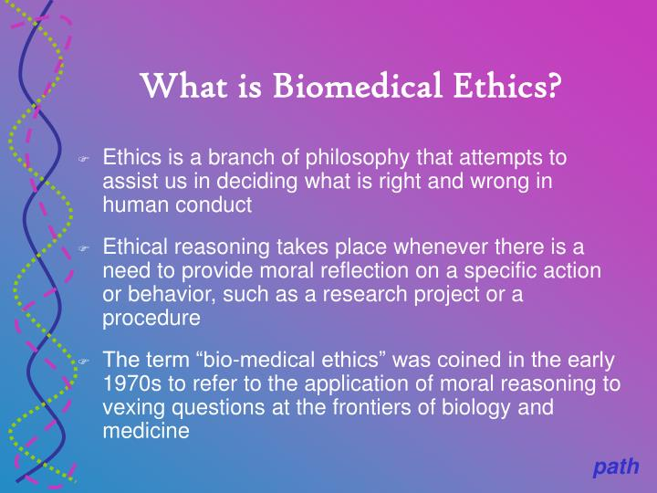 What is biomedical ethics