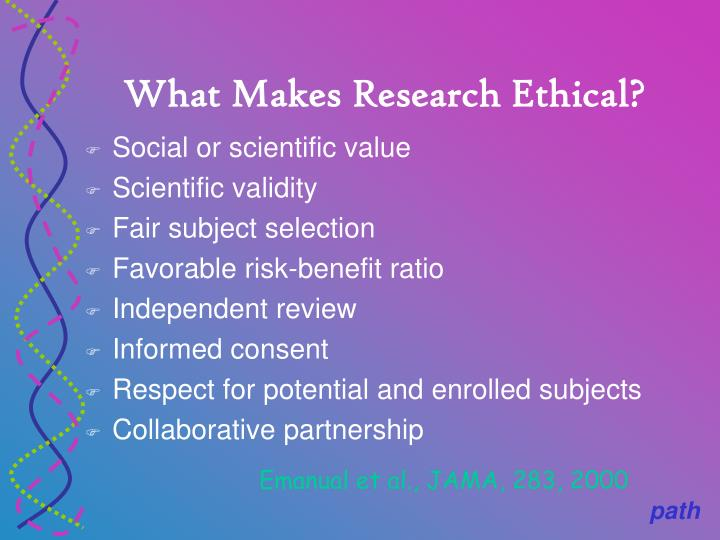 What Makes Research Ethical?