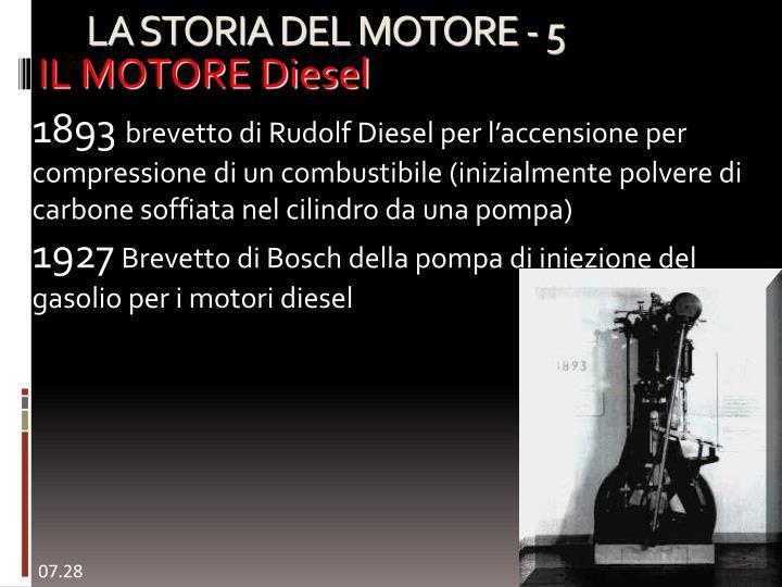 IL MOTORE Diesel