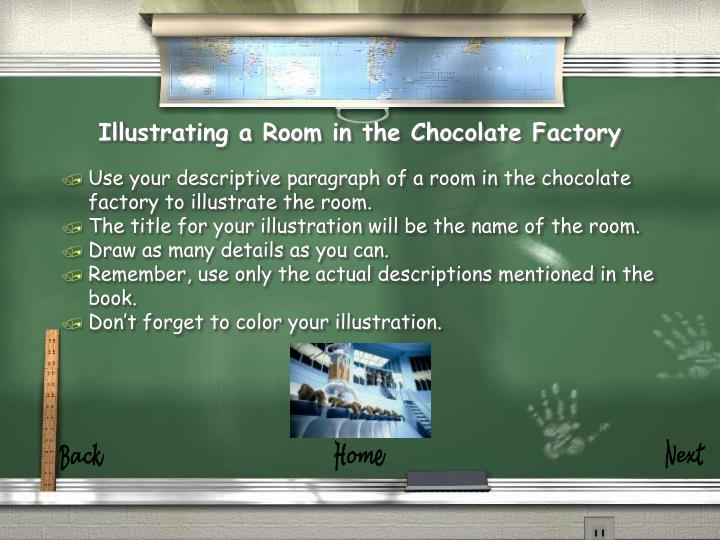 Illustrating a room in the chocolate factory