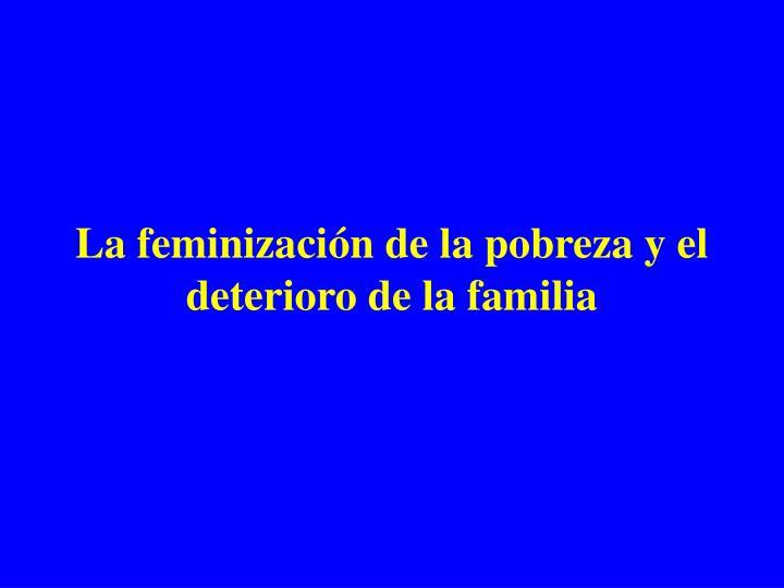 La feminizaci