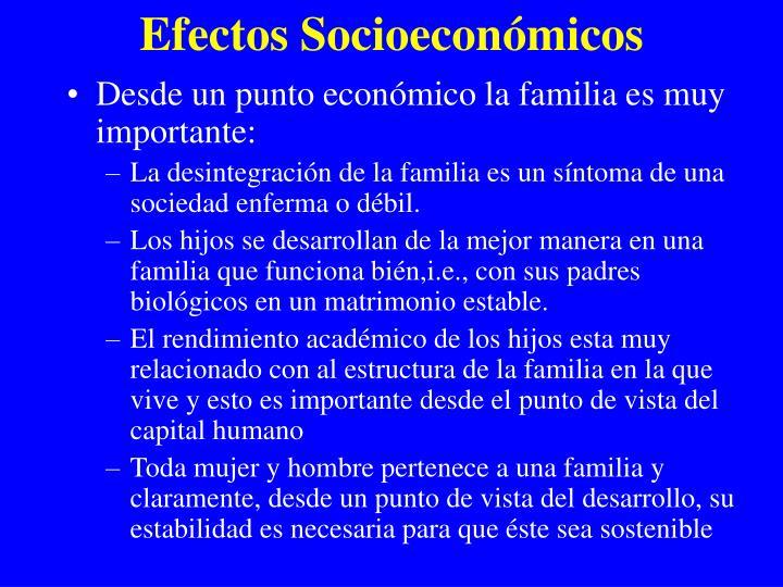 Efectos Socioecon