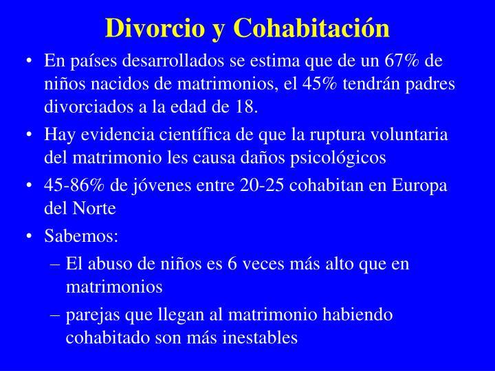 Divorcio y Cohabitaci