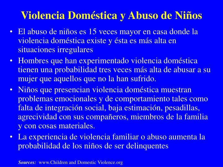 Violencia Doméstica y Abuso de Niños