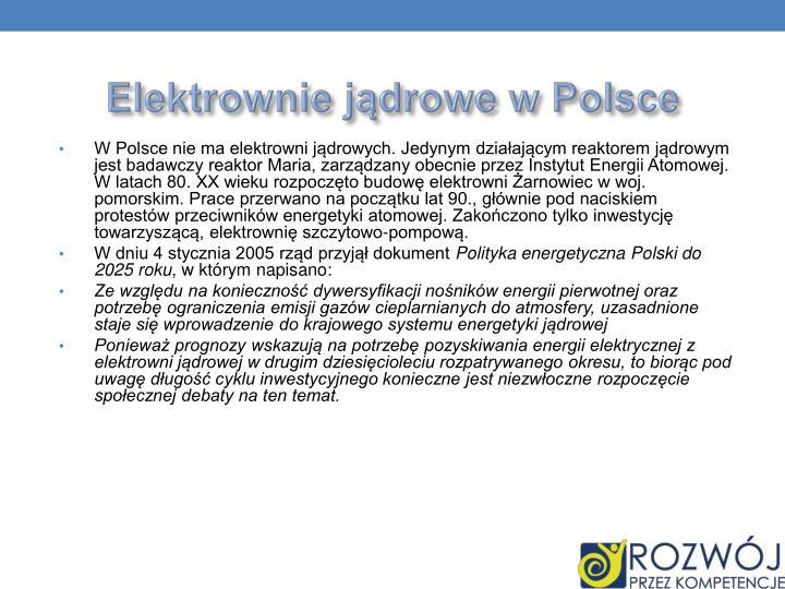 Elektrownie jądrowe w Polsce