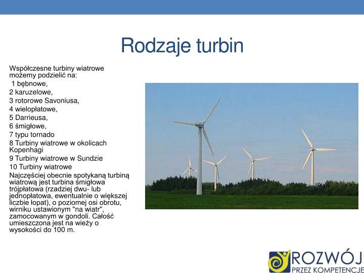 Rodzaje turbin