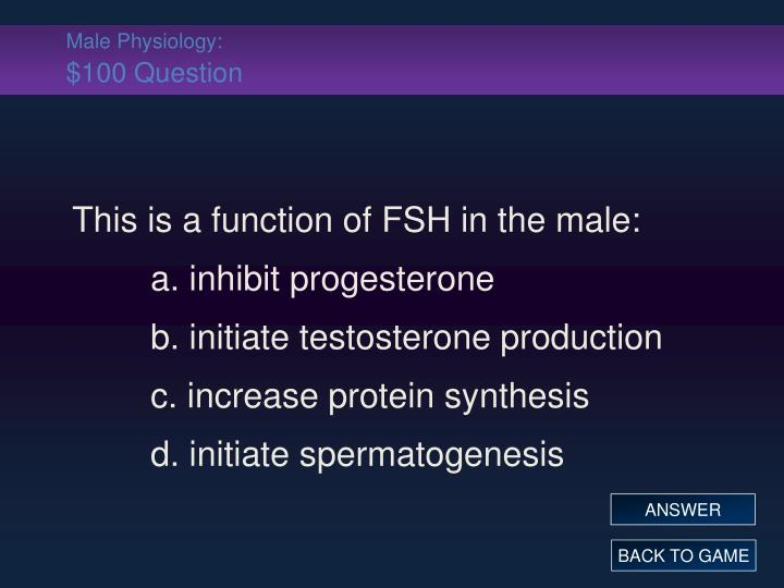 Male Physiology: