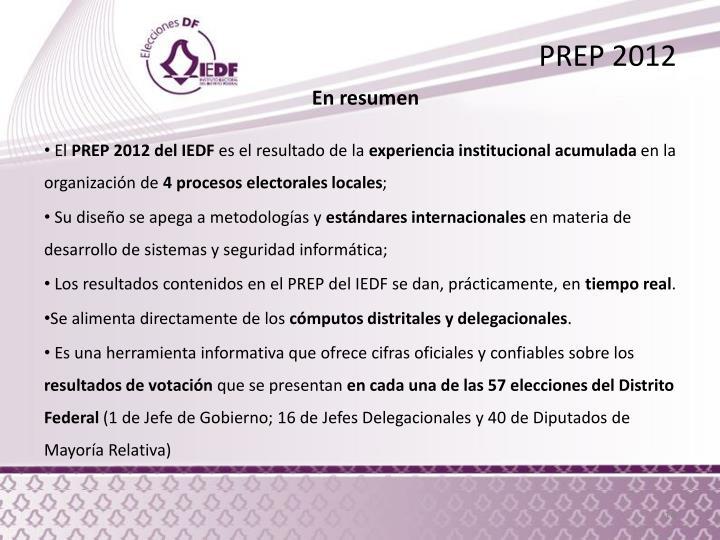 PREP 2012