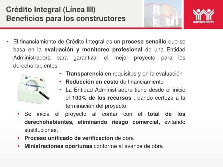 Crédito Integral (Línea III)