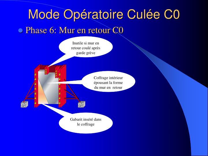 Mode Opératoire Culée C0