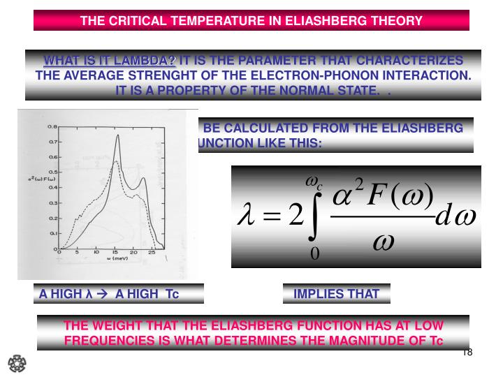 THE CRITICAL TEMPERATURE IN ELIASHBERG THEORY