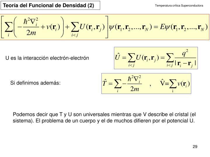 Teoría del Funcional de Densidad (2)