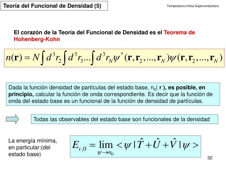 Teoría del Funcional de Densidad (5)
