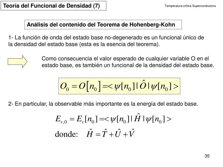 Teoría del Funcional de Densidad (7)