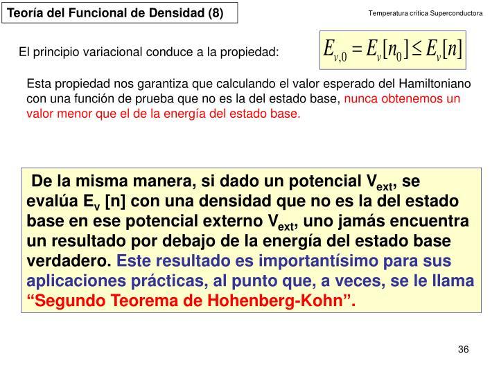 Teoría del Funcional de Densidad (8)