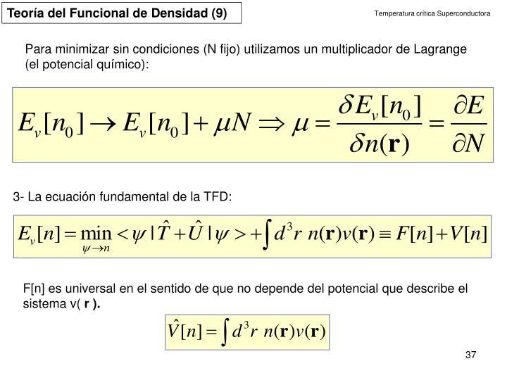 Teoría del Funcional de Densidad (9)
