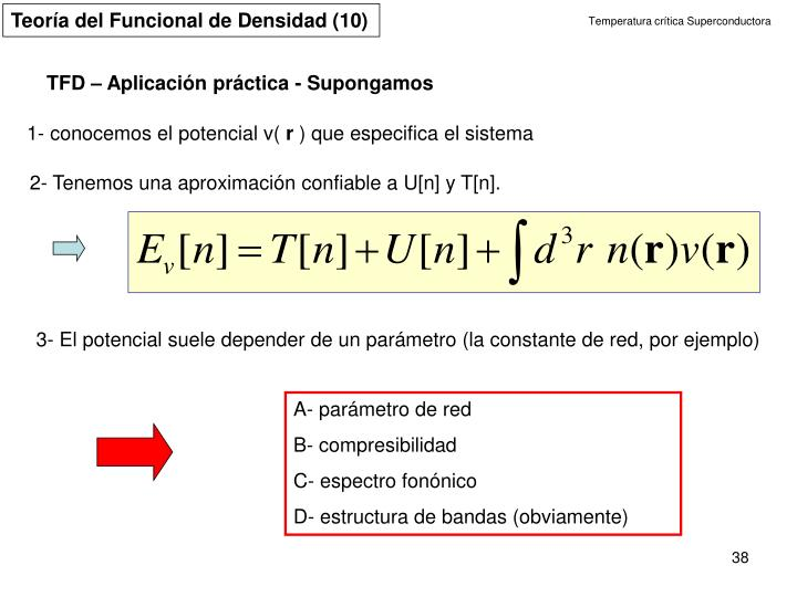 Teoría del Funcional de Densidad (10)