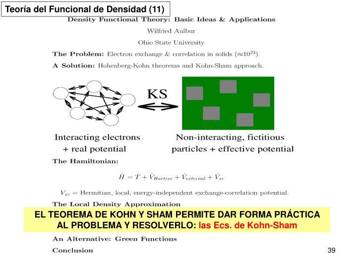 Teoría del Funcional de Densidad (11)