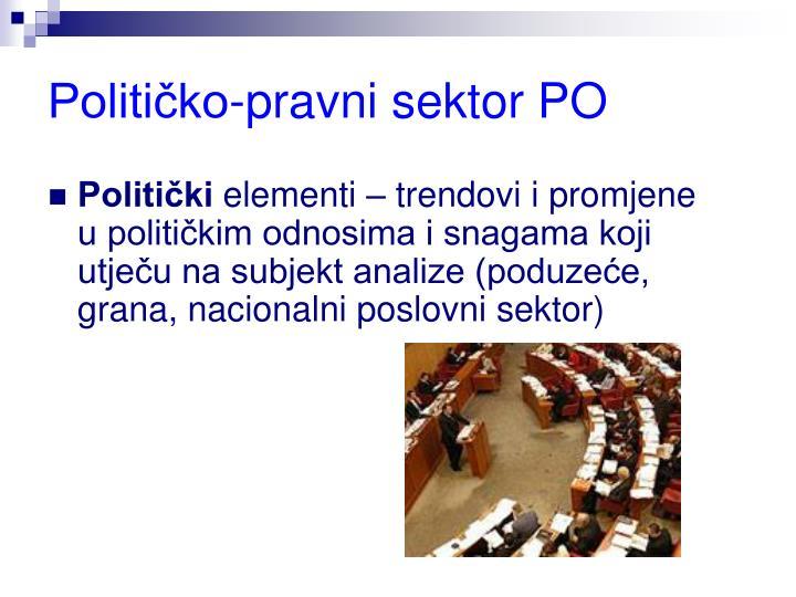 Političko-pravni sektor PO