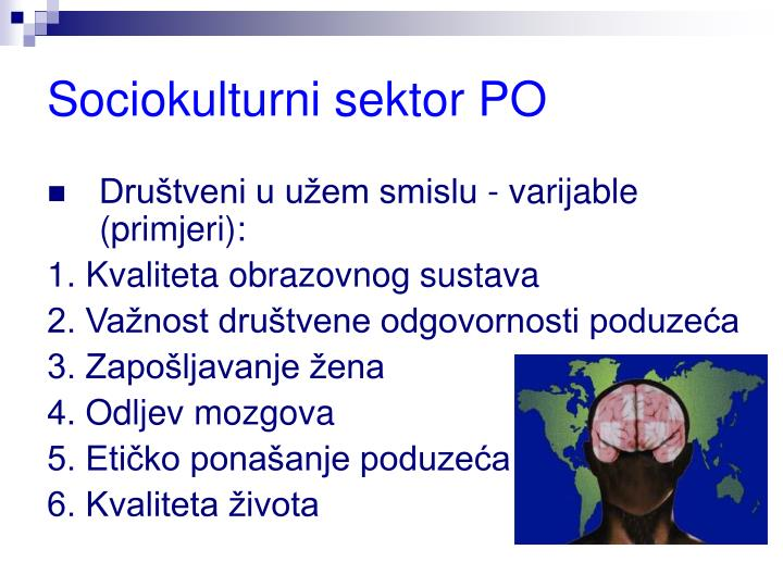 Sociokulturni sektor PO