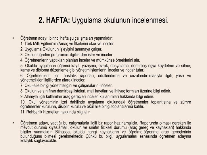 2. HAFTA: