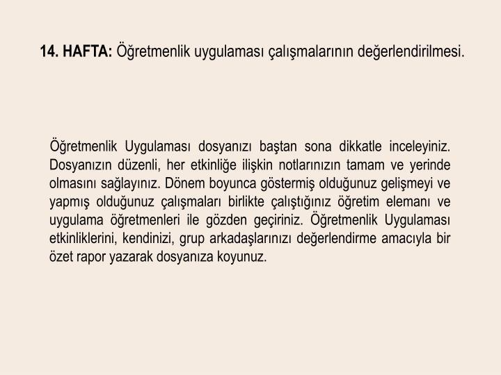 14. HAFTA: