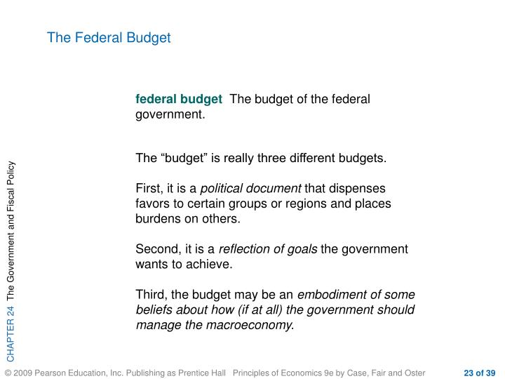 The Federal Budget