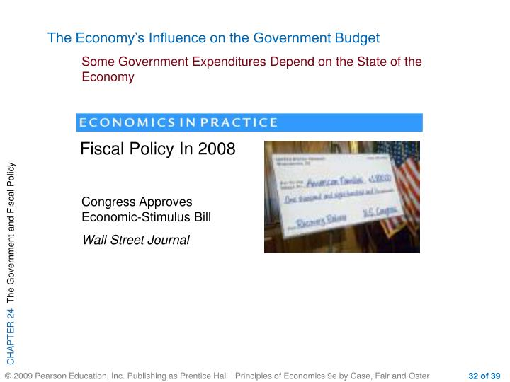 The Economy's Influence on the Government Budget