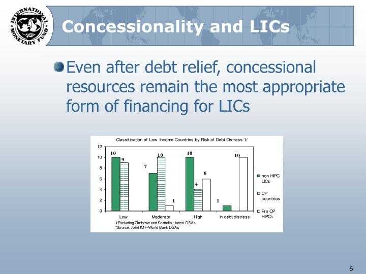 Concessionality and LICs