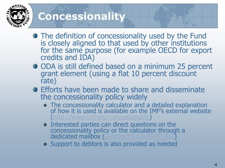 Concessionality
