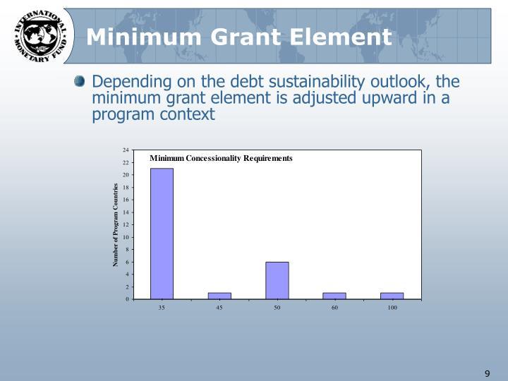 Minimum Grant Element