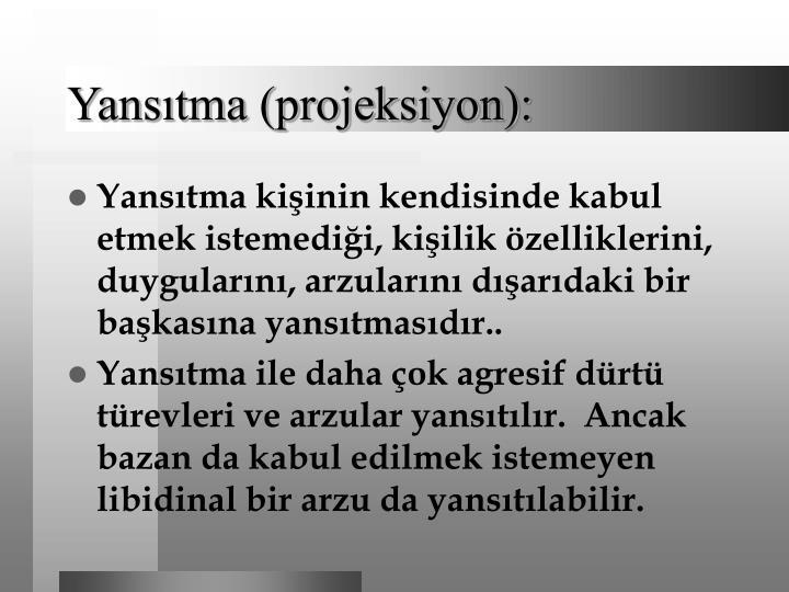 Yansıtma (projeksiyon):