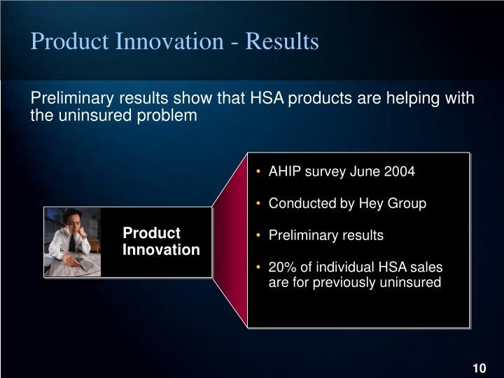 Product Innovation - Results