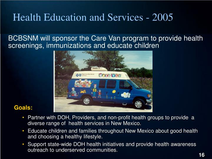 Health Education and Services - 2005