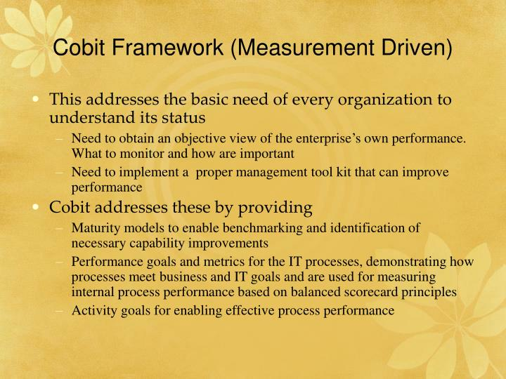 Cobit Framework (Measurement Driven)
